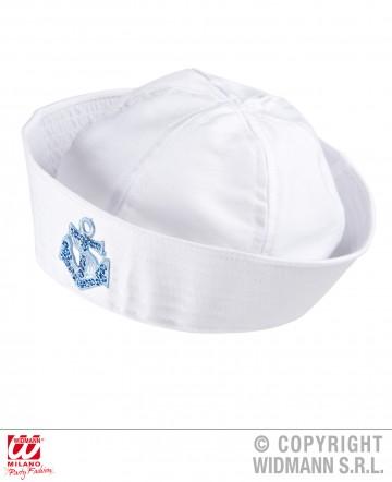 bob de marin, bob marin, chapeau de marin, bob de matelot, accessoire déguisement de marin Bob Marin, Ancre Bleu Ciel Glitter