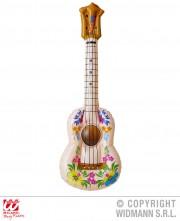 ukulele gonflable, accessoire hawaï déguisement, accessoire déguisement hawaï, accessoire instrument musique, faux instrument de musique, fausse guitare gonflable, fausse guitare déguisement Ukulele Gonflable