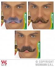 fausses moustaches, postiche, moustache postiche, fausses moustaches réalistes, fausse moustache de déguisement, moustaches Moustache Ambassadeur, Blonde, Châtain et Grise