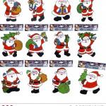 Stickers de fenêtre noel, décorations fenêtre noel, décorations de noel Stickers de Fenêtre, Décorations Père Noël