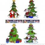 stickers de fenêtre noel, décorations noel, décorations de fenêtre noel, décos sapins de noel Stickers de Fenêtre, Décorations Sapin de Noël
