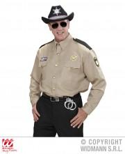 chemise de sheriff, chemise cowboy adulte, déguisement cowboy homme, déguisement sherif homme, déguisement sherif adulte, costume sherif adulte, déguisement sherif américain Déguisement Police, Chemise de Sherif