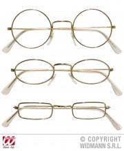 lunettes de déguisement, lunettes de fêtes, lunettes soirée déguisée, accessoires lunettes,lunettes fantaisie, lunettes pas chères, lunettes de père noel, lunettes de vieux, lunettes rondes or Lunettes Cerclées, Or
