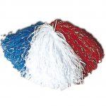 pompon de pom pom girl, pompon de cheerleader, accessoire pom pom girl déguisement, accessoire déguisement pom pom girl Pompon de Pom Pom Girl, Bleu, Blanc, Rouge