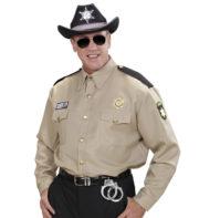 chemise de sheriff, chemise cowboy adulte, déguisement cowboy homme, déguisement sherif homme, déguisement sherif adulte, costume sherif adulte, déguisement sherif américain Déguisement Police, Chemise de Sheriff