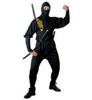 déguisement de ninja homme, déguisement de ninja adulte, costume de ninja, déguisement japonais homme, déguisement asie adulte Déguisement Ninja, Noir et Or