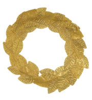 couronne de lauriers, couronne de lauriers romains, accessoire déguisement romains, accessoire déguisement jules césar, accessoire couronne de lauriers Couronne de Lauriers, Or