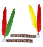 bandeau plume d'indien, accessoire déguisement indienne, bandeau indien à plume, accessoire déguisement, déguisement d'indien, déguisement d'indienne, plumes d'indien, coiffe indienne Bandeau d'Indien à Plumes