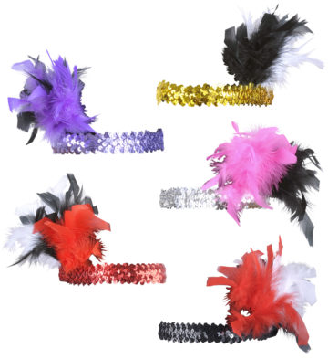 bandeau charleston, bandeau à plumes, accessoire déguisement, accessoire années 30, accessoire cabaret, bandeau charleston, bandeau années 30, bandeau années 20, déguisement charleston, accessoire déguisement charleston Bandeau Charleston à Plumes