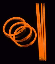 bracelets fluos, soirée fluo, accessoires fluos, batons fluos Bracelets Fluos, x 100, Orange