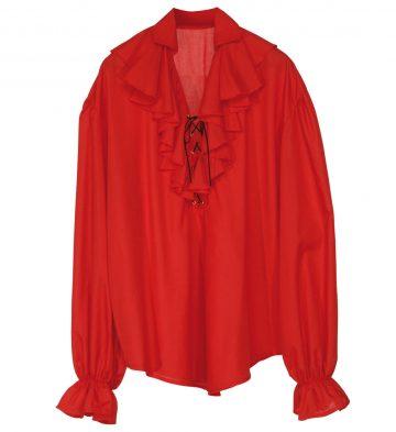 chemise pirate femme, chemise renaissance femme, chemise médiévale, accessoire déguisement médiéval femme, accessoire femme médiévale déguisement, accessoire pirate femme déguisement, accessoire déguisement pirate femme Chemise Pirate, Médiévale et Renaissance, Rouge