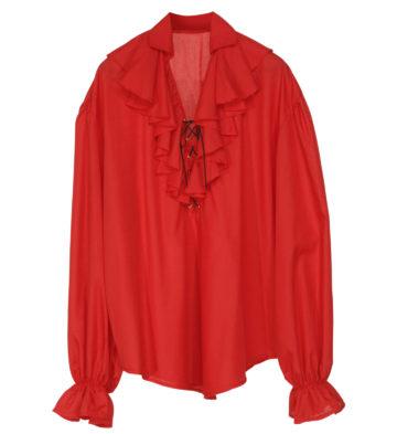 chemise médiévale déguisement, chemise pirate déguisement, chemise renaissance déguisement, accessoire déguisement moyen age, accessoire déguisement pirate, accessoire déguisement renaissance, accessoire déguisement homme, chemise médiévale homme Chemise Pirate et Renaissance, Rouge