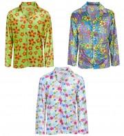 chemise hippie homme, déguisement de hippie, costume de hippie, costume années 70, déguisements années 70, accessoire déguisement hippie, accessoire hippie déguisement Déguisement Hippie, Chemise Velours à Fleurs