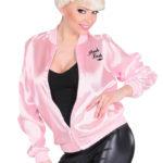 blouson pink ladies, déguisement années 60, déguisement grease, déguisement années 50, accessoire déguisement rock'n'roll, accessoire déguisement femme Déguisement Grease, Blouson Pink Ladies Années 60