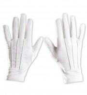 gants blancs, gants courts blancs, accessoire gants déguisement, gants déguisements, gants blancs, gants homme déguisement, gants de père noel déguisement Gants Courts, Blancs