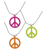 collier hippie déguisement, collier hippie et boucles d'oreilles hippies, collier peace and love, accessoires déguisement hippie, accessoires hippie, collier déguisement hippie, collier déguisement années 70 Collier Hippie, Couleurs Fluos