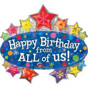 ballon hélium, ballon anniversaire, ballon happy birthday Ballon Aluminium, Anniversaire, Happy Birthday Géant