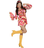 déguisement hippie, déguisement disco, robe disco déguisement, robe hippie déguisement, costume hippie déguisement femme Déguisement Disco Chick, 70s Orange