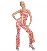 déguisement disco femme, robe disco déguisement, costume disco femme, costume années 80 femme, déguisement années 80 femme, déguisement disco pas cher, déguisement disco femme Déguisement Disco Fever, Combinaison 70 Rose