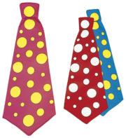 cravate de clown, cravate déguisement, maxi cravate, cravate large à pois, accessoire de clown, cravate à pois, cravate large à pois, déguisement de clown Cravate de Clown à Pois