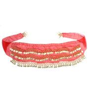 bandeau oriental, ceinture orientale, accessoire déguisement oriental, accessoire oriental déguisement, accessoire danseuse orientale déguisement Bandeau de Taille Oriental, Rouge