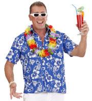 chemise hawaï homme, chemise hawaïenne homme, accessoire hawaï déguisement, soirée hawaï, accessoire déguisement soirée tropicale, colliers hawaïens, déguisement hawaïen homme Chemise Hawaïenne, Bleue