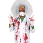 blouse ensanglantée, accessoire halloween déguisement, accessoire déguisement halloween, blouse faux sang halloween Blouse Blanche Ensanglantée