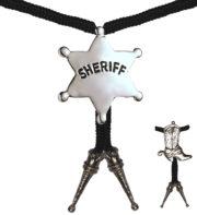 collier cowboy déguisement, accessoire cowboy déguisement, étoile de shérif déguisement, collier cowboy pas cher, accessoires thème cowboy, bijoux de cowboy Collier de Cowboy, Santiag ou Etoile de Shérif