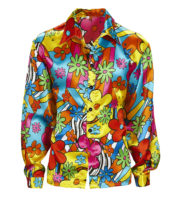 chemise hippie homme, déguisement hippie homme, déguisement flower power homme, costume hippie homme, accessoire hippie déguisement, déguisement hippie homme Déguisement Hippie, Chemise Flower Power