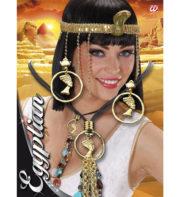 collier déguisement égyptien, collier cléopatre déguisement, bijoux égyptiens déguisement, bijoux antiques déguisement, collier égypte déguisement Collier Egypte et Boucles d'Oreilles