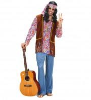 déguisement de hippie homme, costume hippie homme, déguisement hippie adulte, déguisement peace and love homme, déguisement années 70 homme, déguisement années 70 adulte Déguisement Hippie Psychédélique
