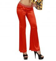 déguisement soirée disco, déguisement disco, pantalon pattes d'eph, pantalon disco femme, costume disco femme, costume années 80 déguisement, pantalon pattes d'éléphant déguisement, accessoire déguisement disco Déguisement Disco, Pantalon Fluide, Rouge