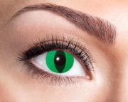 lentilles vertes de chat, lentilles halloween, lentilles fantaisie, lentilles déguisement, lentilles déguisement halloween, lentilles de couleur, lentilles fete, lentilles de contact déguisement, lentilles oeil de chat Lentilles Oeil de Chat, Vertes, Anaconda