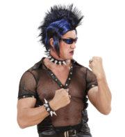 bijoux de biker, faux bijoux rock, faux bijoux à clous, bijoux à clous, bijoux halloween, mitaines simili cuir, bijoux déguisement, déguisement de rocker, déguisement de biker, bracelets à pics, accessoires de punk Bracelet Punk à Pointes