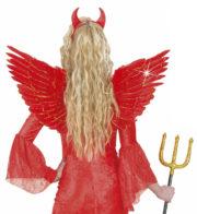 ailes de déguisement, ailes pour se déguiser, ailes d'anges rouges, ailes d'ange rouge, ailes en plumes, ailes rouges,accessoire halloween, ailes de démon Ailes d'Ange en Plumes, Rouges et Or