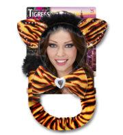 accessoire déguisement tigre, accessoire tigre déguisement, oreilles de tigre déguisement, queue de tigre déguisement, accessoire déguisement animaux Kit de Tigresse