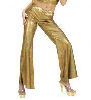 déguisement soirée disco, déguisement disco, pantalon pattes d'eph, pantalon disco femme, costume disco femme, costume années 80 déguisement, pantalon pattes d'éléphant déguisement, accessoire déguisement disco Pantalon Disco, Pattes d'Eph, Or