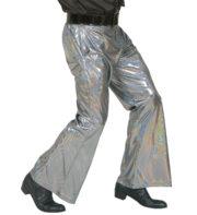 soirée disco, déguisement disco, pantalon pattes d'eph, pantalon disco, accessoire disco déguisement Déguisement Disco, Pantalon Fluide Argent