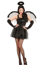déguisement d'ange noir femme, déguisement ange noir halloween, déguisement soirée ange et démon femme, costume halloween femme, costume ange noir femme, déguisement ange de la mort halloween Déguisement Ange Noir