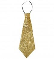 cravate large à paillettes, cravate clown, cravate à paillettes, cravate déguisement, accessoire déguisement, accessoire disco, cravate disco, cravate paillettes dorée, cravate dorée Cravate Paillettes Glitter, Dorée