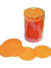 confettis de scène, confettis papier de soie, gros confettis, confettis de scène ronds Confettis de Scène, Ronds, Oranges