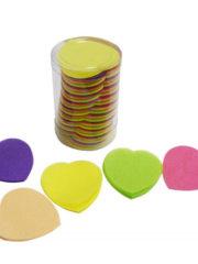 confettis de scène, confettis papier de soie, gros confettis, confettis de scène coeurs Confettis de Scène, Coeurs, Multicolores