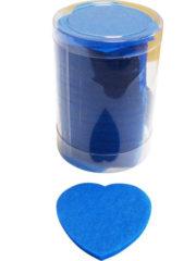 confettis de scène, confettis papier de soie, gros confettis, confettis de scène coeurs Confettis de Scène, Coeurs, Bleu Roi