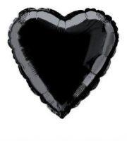 ballon, ballon à l'hélium, ballon coeur, ballon mylar, ballon aluminium, ballon hélium Ballon Aluminium, Coeur Noir