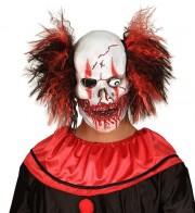 masque clown zombie, masque de déguisement, accessoire masque déguisement, masque de clown effrayant, accessoire masque halloween, déguisement clown halloween, déguisement halloween masque clown Masque de Clown Zombie, Latex