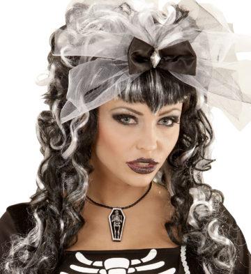 collier cerceuil, bijoux halloween, accessoires halloween pas cher, collier  pour halloween, bijoux