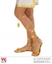 sandales romaines, accessoire romaine déguisement, accessoire déguisement romain, chaussures déguisement, accessoire déesse romaine déguisement Sandales Romaines, Feuilles d'Or