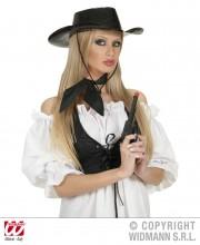 foulard noir, foulard en satin noir, foulard cowboy, foulard années 60 Foulard en Satin, Noir