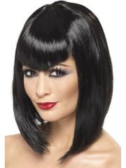 perruque pas chère à paris, perruques femmes, perruques de déguisement, perruque noire, perruque carré noir, perruque vamp Perruque Vamp, Noire