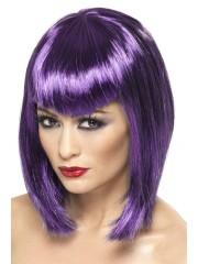 perruque pas chère à paris, perruques femmes, perruques de déguisement, perruque violette, perruque vamp violette Perruque Vamp, Violette